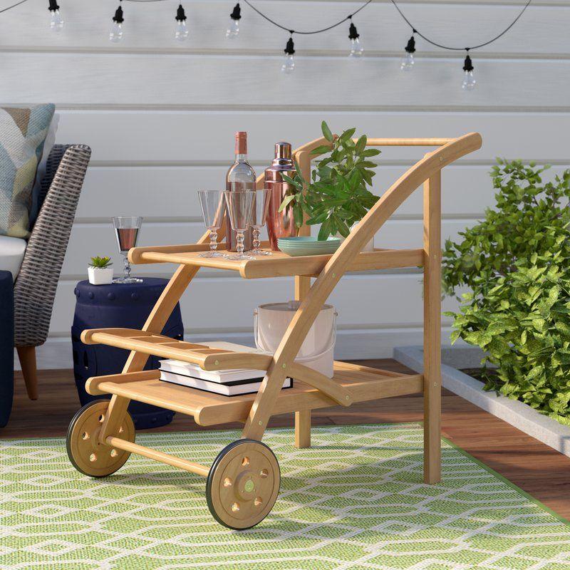 Farmhouse PatioBarFurniture Drachten Tea Bar Serving Cart