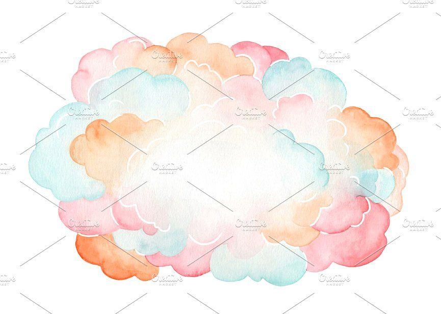 Confetti Cloud Watercolor Background Change Photoshop Darker