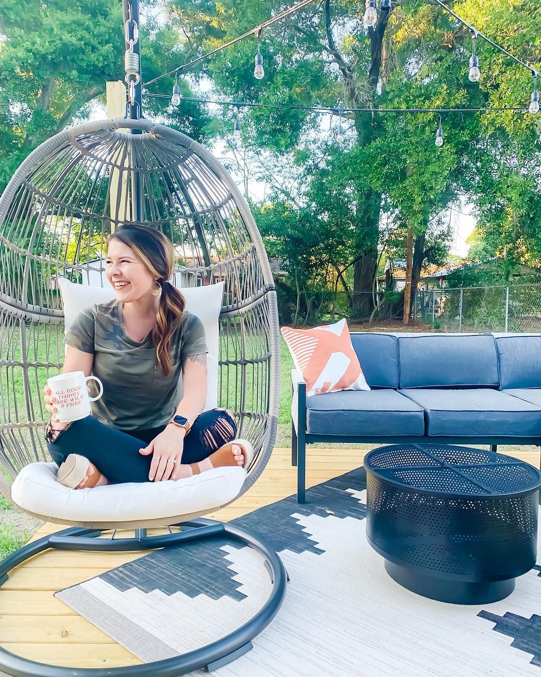 Target Egg Chair Outdoor space, Quiet time, Instagram