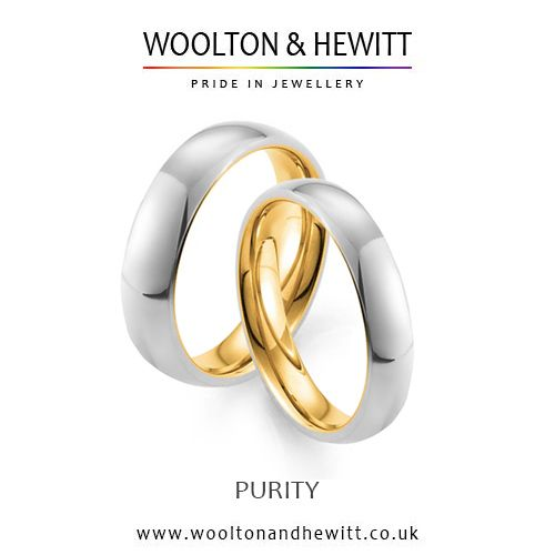 PURITY Wedding Ring with 24ct 24k gold inside to show the depth of