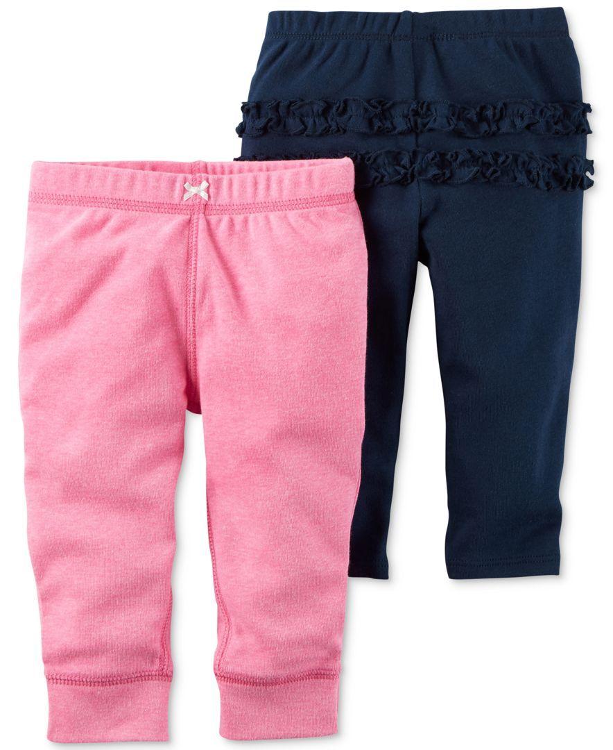 ec3c901c76b1e Carter's 2-Pc. Ruffled Leggings & Jogger Pants Set, Baby Girls (0-24 months)