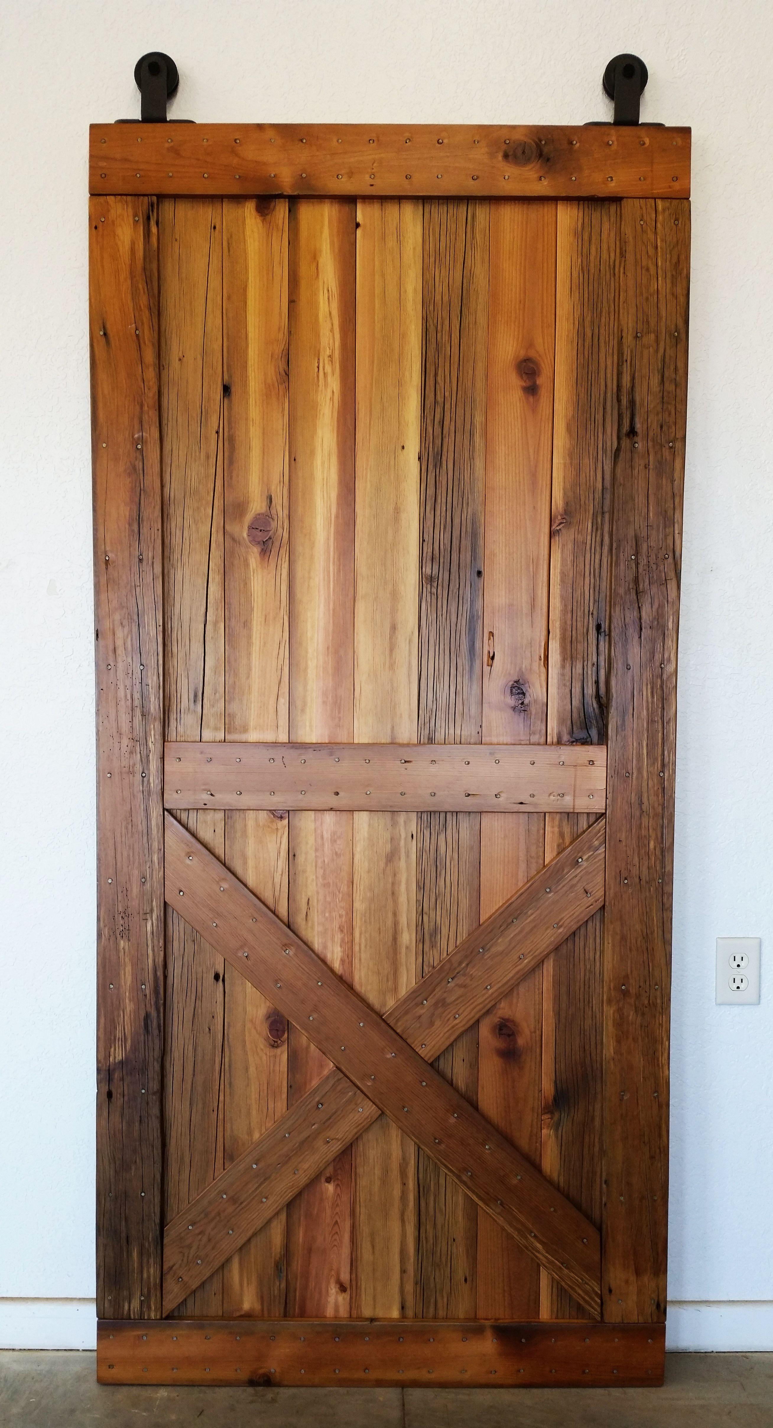 Signaturewoodsepiq Com Custom Reclaimed Sliding Barn Door Smooth Douglas Fir W Clear Coat Diy Barn Door Hardware Rustic Doors Barn Door