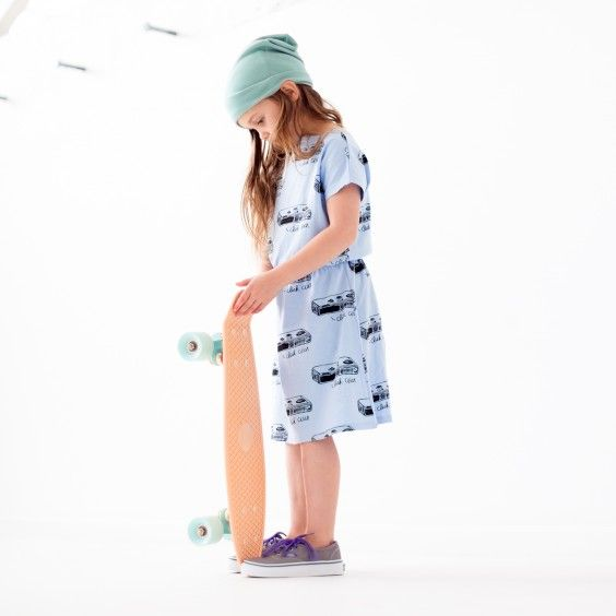Bandit Kids Click Click Slouchy Dress Pastel Blue What