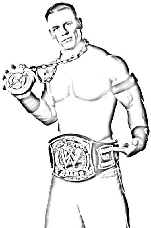 Check It Out Wwe Coloring Pages John Cena Super Coloring Pages