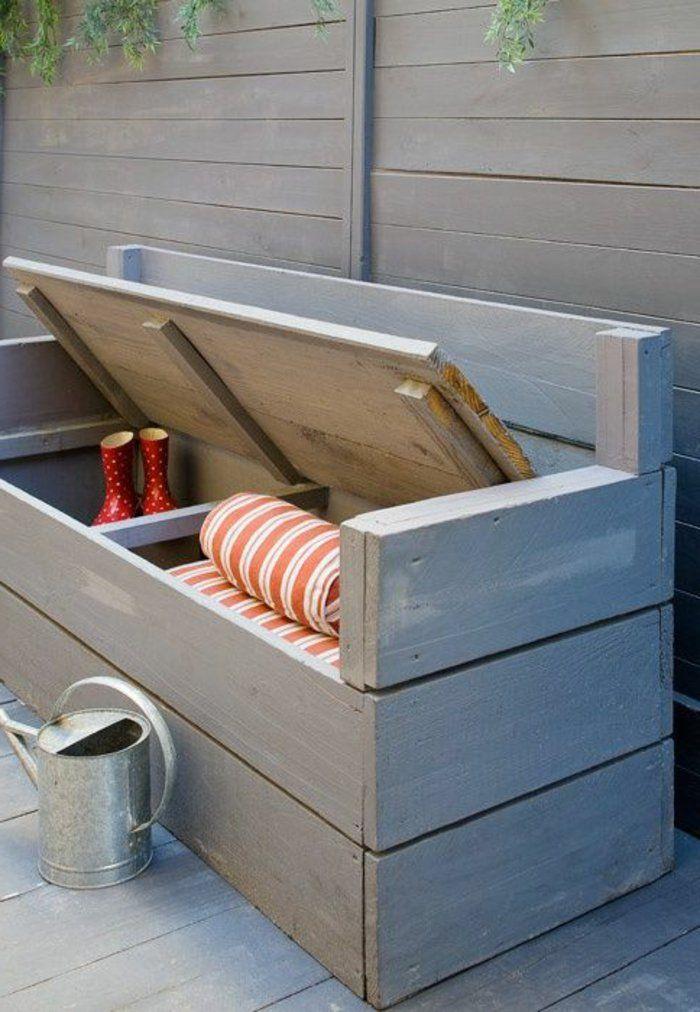 banc d 39 ext rieur banc coffre exterieur en bois mobilier. Black Bedroom Furniture Sets. Home Design Ideas