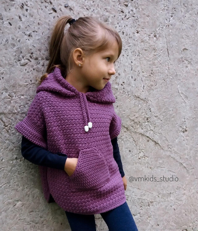 одежда для девочек ручной работы пончо для девочки Vm Kids