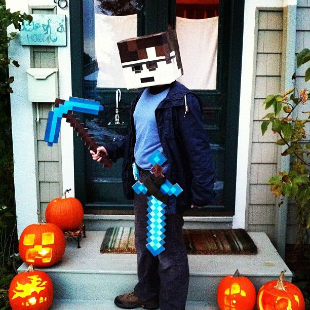 mining jack-o-lanterns Minecraft stuff, Birthdays and Minecraft ideas - minecraft halloween costume ideas