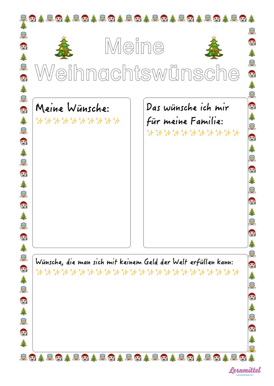 meine-weihnachtswuensche | Deutschunterricht | Pinterest | Wünsche ...