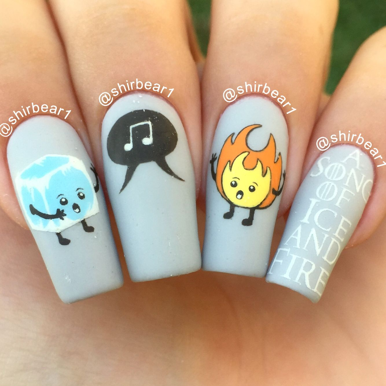 A Song Of Ice And Fire Nail Art Game Of Thrones Nail Art For
