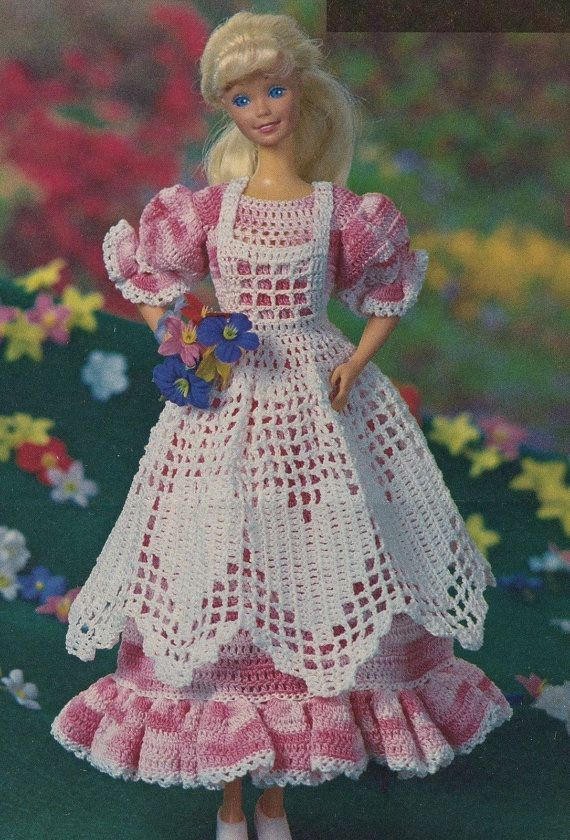 Spring Pinafore Gown, Fashion Doll Clothes Crochet Pattern Pages ...