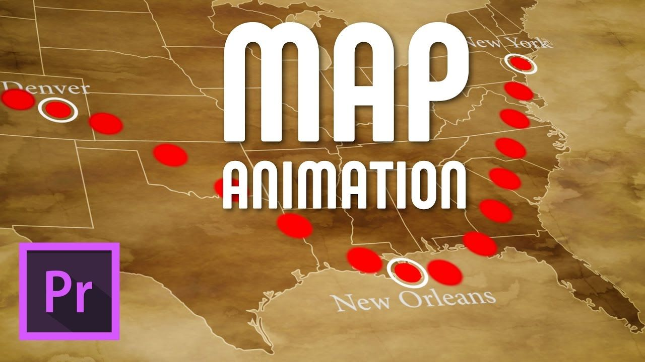 Draw an animated travel line on map, Premiere Pro (FREE TEMPLATE
