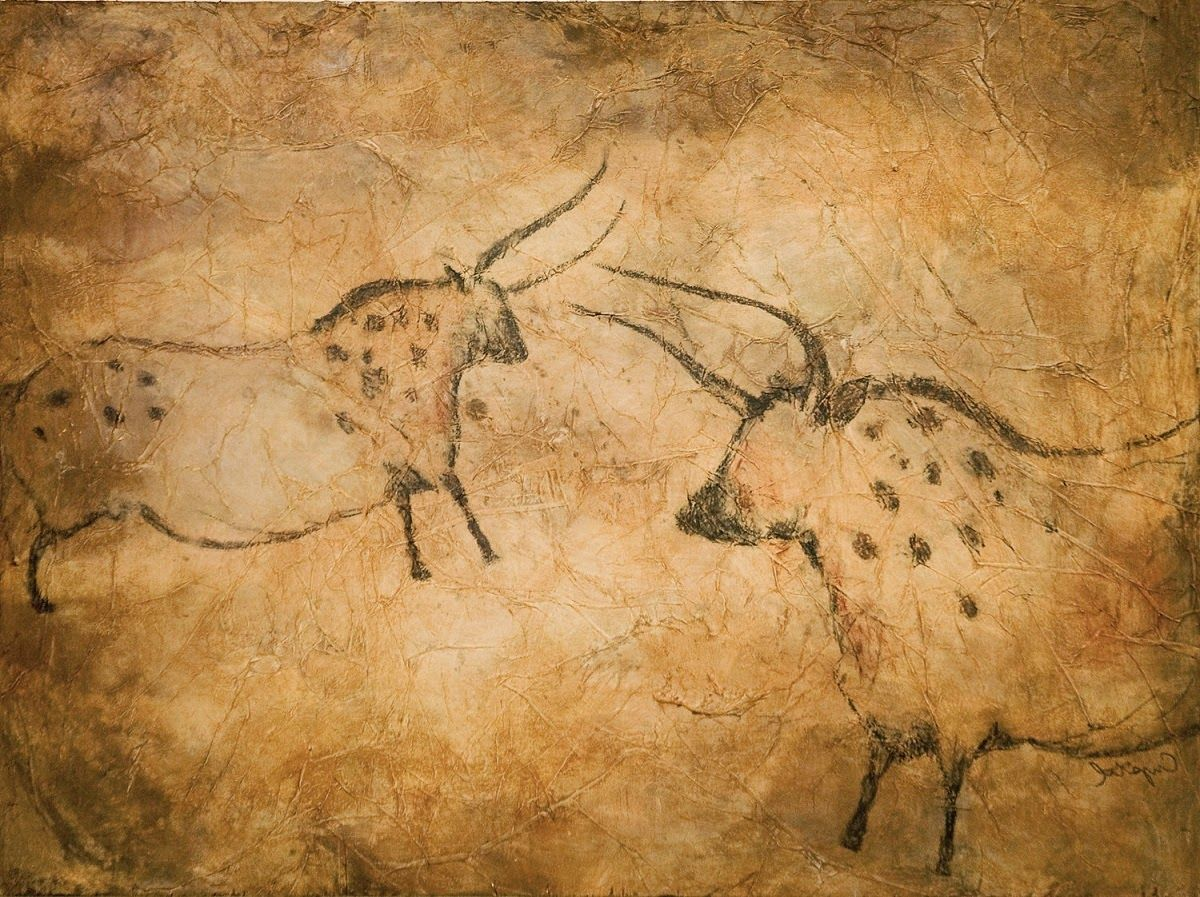Man Cave Paintings : Paleolithic cave paintings il lavoro e l arte