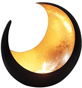 Maades Windlicht Laterne Orientalisch Moon Gross 20cm Gold