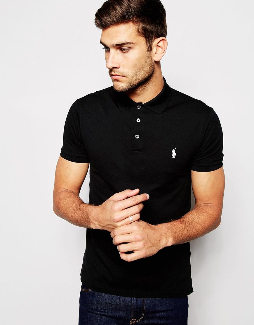 Polo shirt by Polo Ralph Lauren Breathable pique Contains stretch for  comfort Polo collar Three button placket Embroidered logo Regular fit -  true to size ...