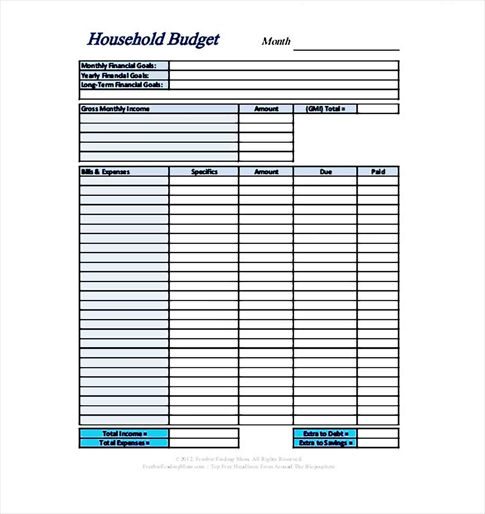 Sample Personal Budget In 2020 Personal Budget Budget Template Printable Personal Budget Template