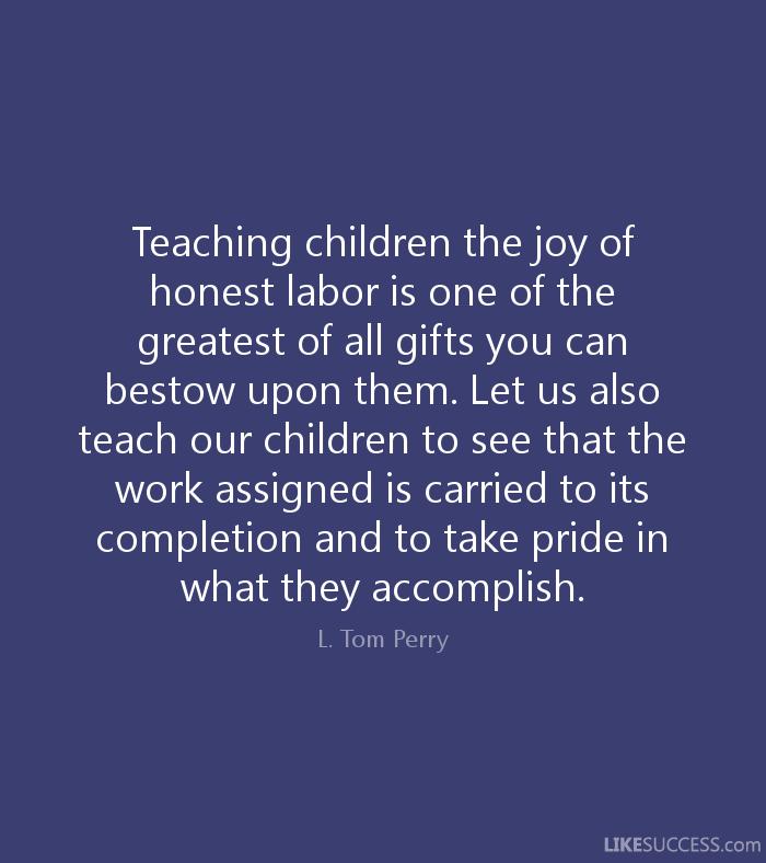 By Elder L. Tom Perry #joy