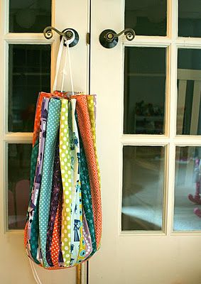 Lego or toy storage- Probably wouldn't take time to quilt it though.  Just get some wide fabric.