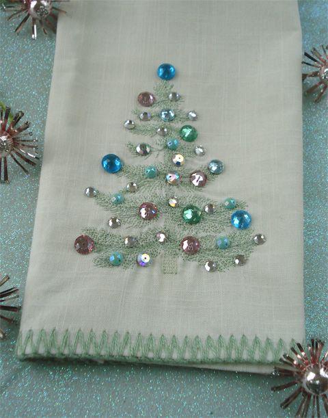 DIY Christmas tree napkins
