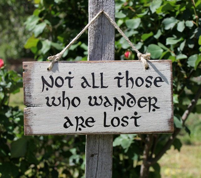 Not all those who wander are lost - Lord Of The Rings - Middle Earth (20.00 AUD) by TheWelcomeSwallow