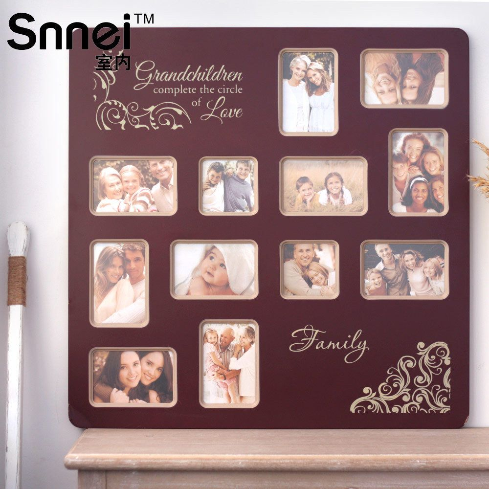 snnei large multi compartment interior paint exquisite european retro frames creative combination photo frame wall photojpg 10001000 pinterest