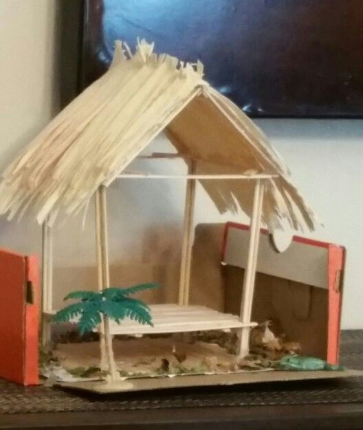 Chickee hut project seminole indian home school for Projects of houses