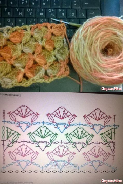 узоры крючок узоры вяз Crochet Stitches Crochet Poncho и