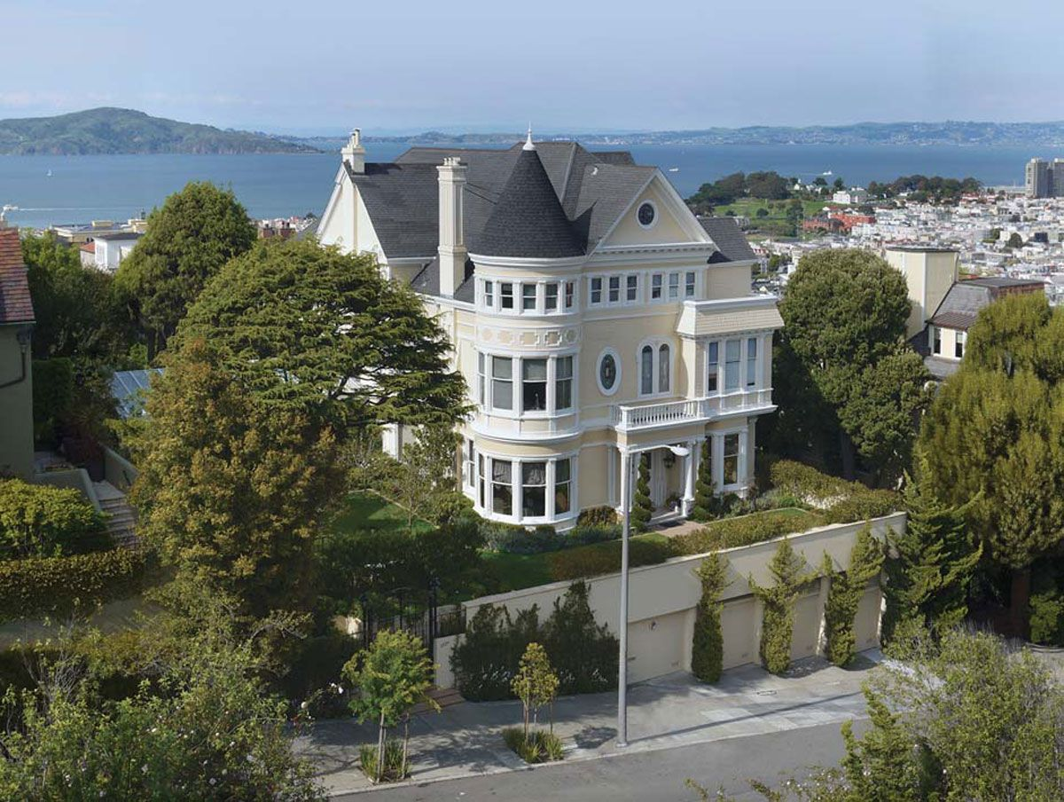 Described as one of San Francisco's largest private residential parcels,  the gigantic 1894 built sq. ft Queen Anne style mansion sitting on a lot  totaling ...
