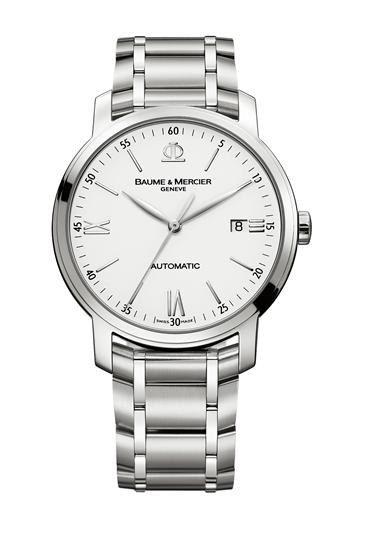 Herrenuhr Classima - Baume & Mercier - Herrenuhren - Diese schlichte, gänzlich in Weiß und Silbergrau gehaltene Uhr, wird nicht nur an gebräunten Handgelenken für Aufsehen sorgen. Wir konnten dem puristischen Design und den...