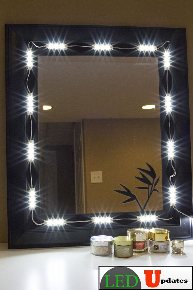 How To Make A Vanity Mirror With Lights Captivating Makeup Mirror White Led Light Package Premium Series  Pinterest Design Ideas