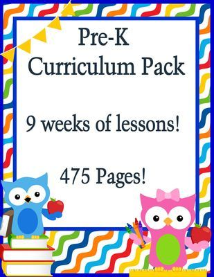 Pre K Curriculum 9 Weeks Of Lessons 475 Pages From Homegrown