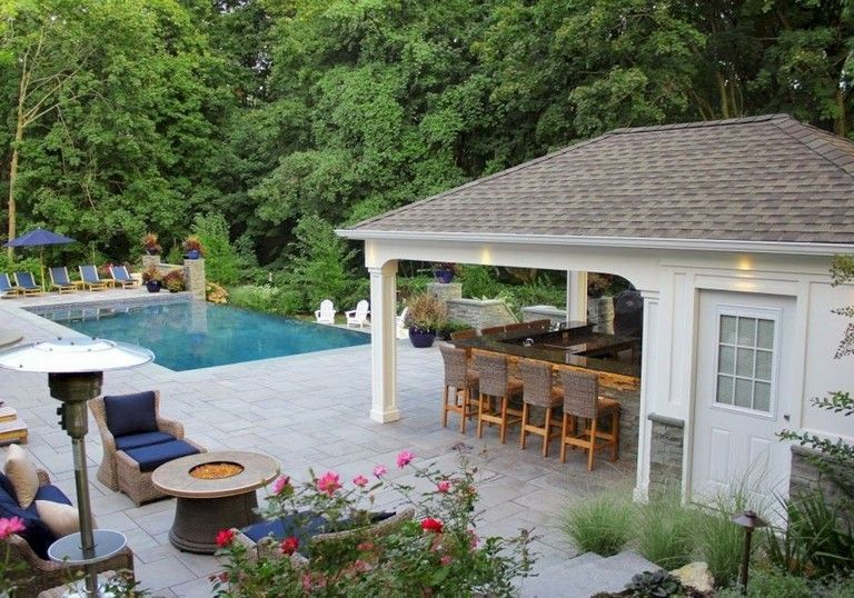 60 Marvelous Outdoor Kitchen And Bar Design Ideas Pool Houses Pool Patio Backyard Pool