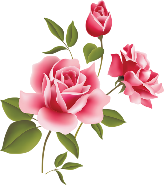 Pink Rose Art Picture Clipart Flower Art Rose Art Flower Wall Stickers