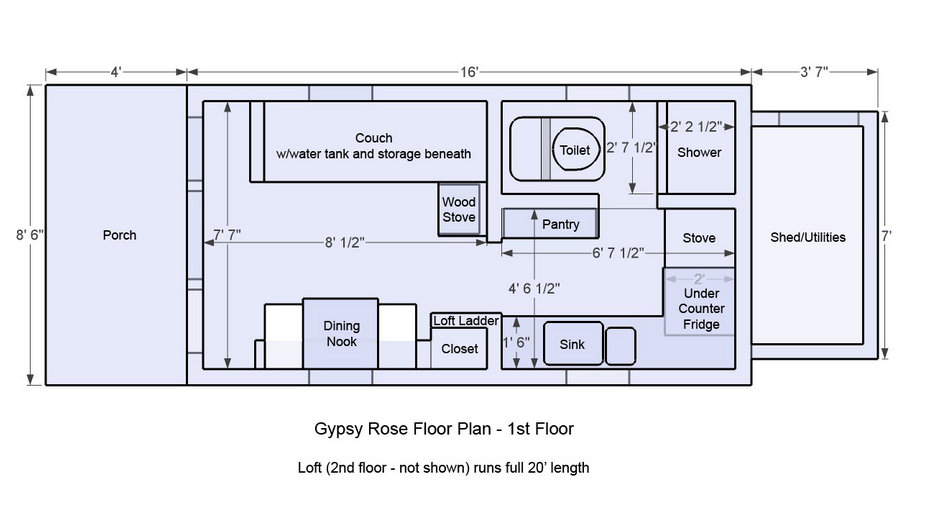 Tiny House On Wheels Plans For Floor Unique Efficient Floor Nice Design And Comfortable Png 929 507 Tiny House Floor Plans Tiny House Layout House Floor Plans