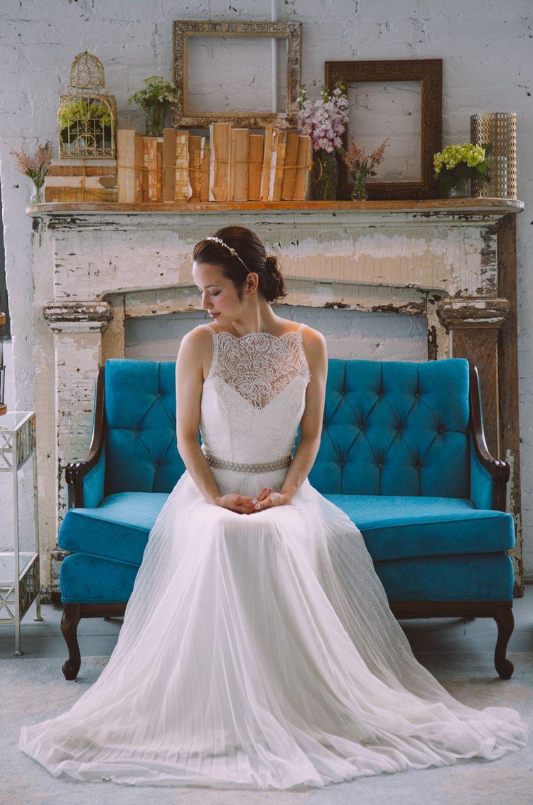 Wedding dresses brooklyn  Brooklyn warehouse shoot with Rebecca Schoneveld dress  image by