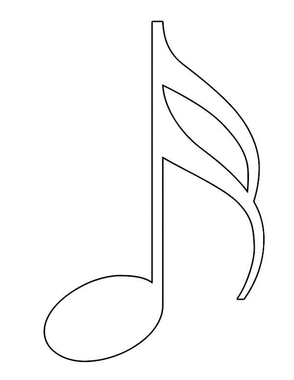 Music Note Coloring Pages Forcoloringpagescom art Pinterest