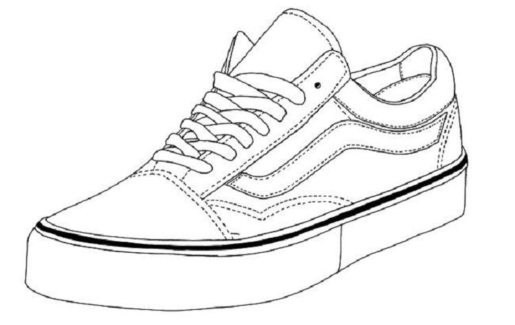 Vans Shoes Coloring Pages Sneakers Drawing Sneakers Sketch