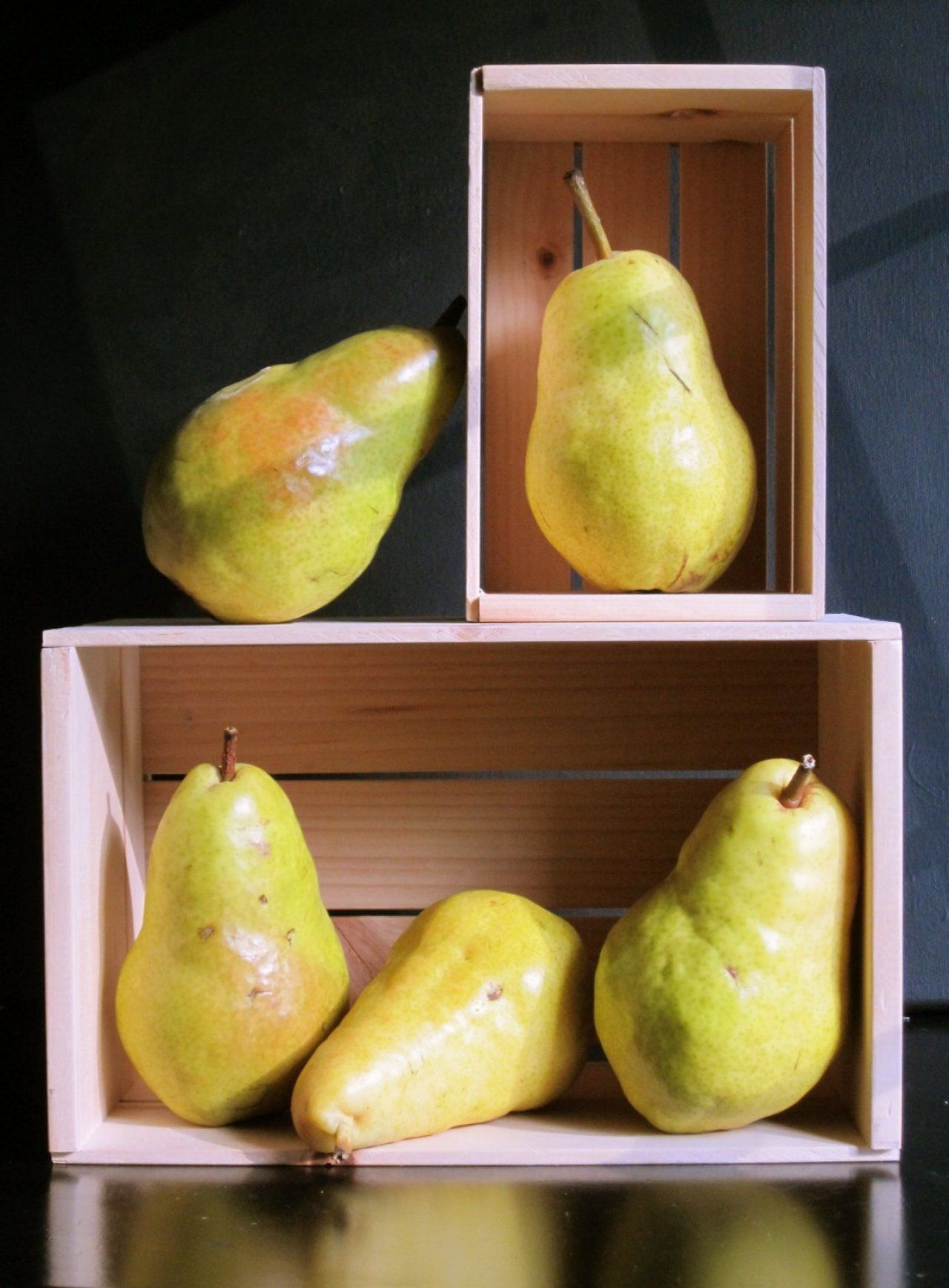 Pears In Boxes Gallery Lillian Bell