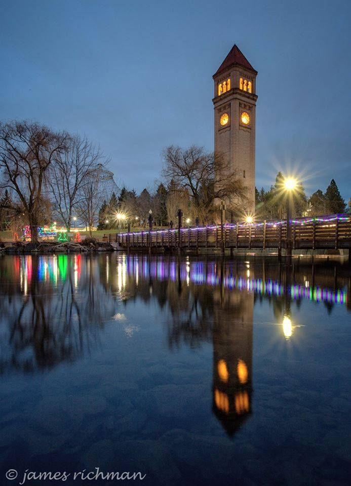 Christmas lights at Riverfront Park | James Richman ...
