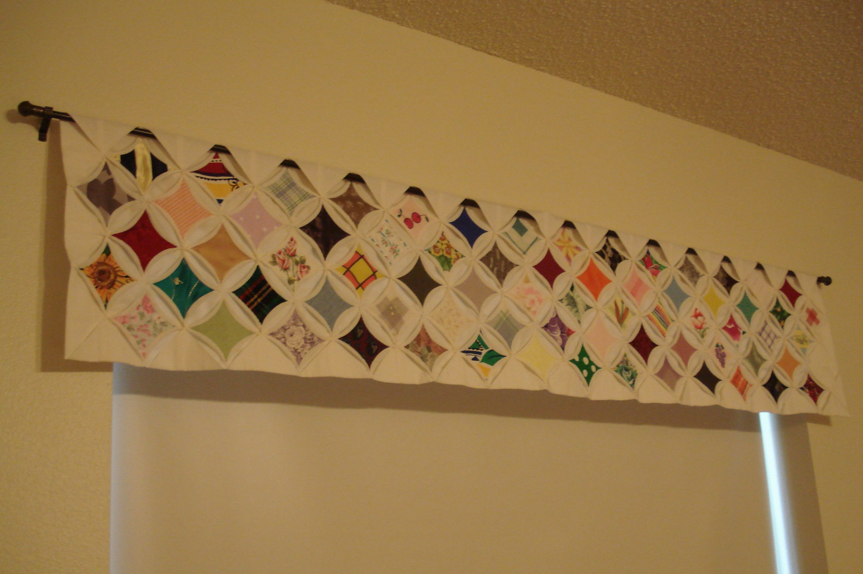 Cathedral window quilt valance | quilted valence | Pinterest ... : quilted valances - Adamdwight.com