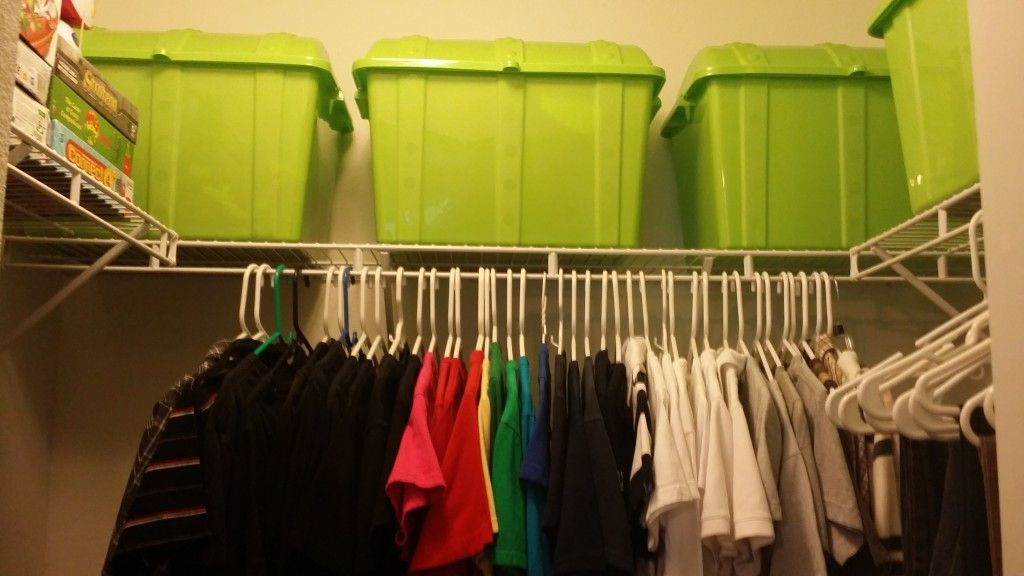 Organizing your kid's closet that is in between stages (kid ~ teenager)