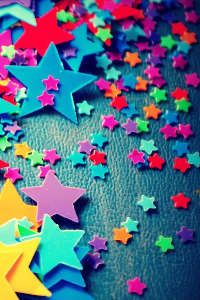 Colourful Stars Phone Wallpaper Design Cellphone Wallpaper Star Wallpaper
