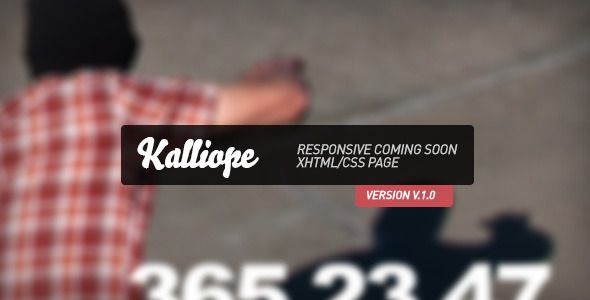 Kalliope - Responsive Coming Soon Page