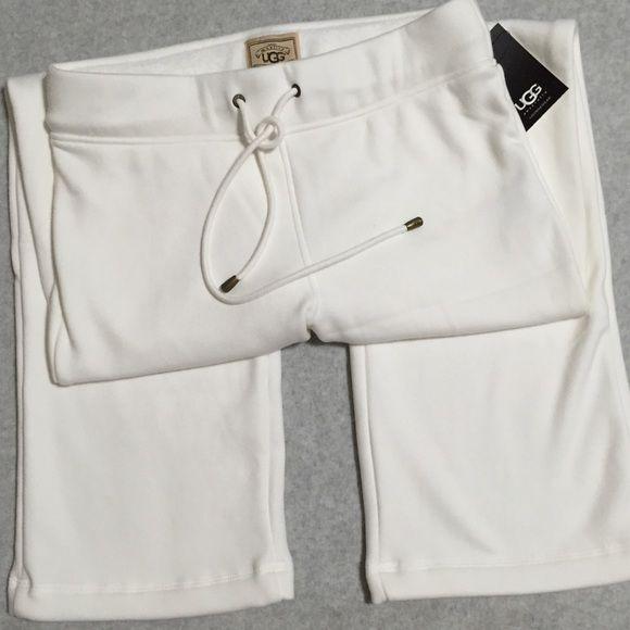 UGG Lounge Pants UGG Soft Fleece Lined Tie Front Lounge Pants. Color ~  white UGG Pants 18d254f12