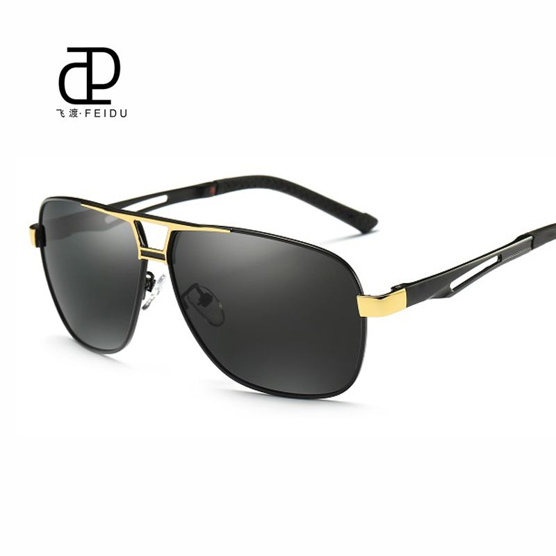 7793d32450cff FEIDU HD Polarized Sunglasses Men Brand Design Alloy Temple Vintage Sun  Glasses Outdoor Sport Driving Eyewear For Male With Case