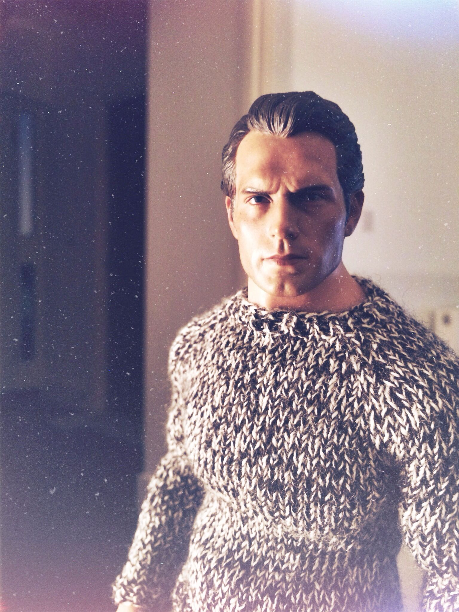 Dom.  This is a Hot Toys True Type TTM20 body with a Henry Cavill head and hand-knitted sweater by @Hegemony77 clothes for dolls and 1/6 figures