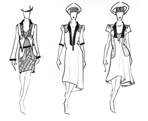 How To Draw A Model For Designing Clothes How To Draw