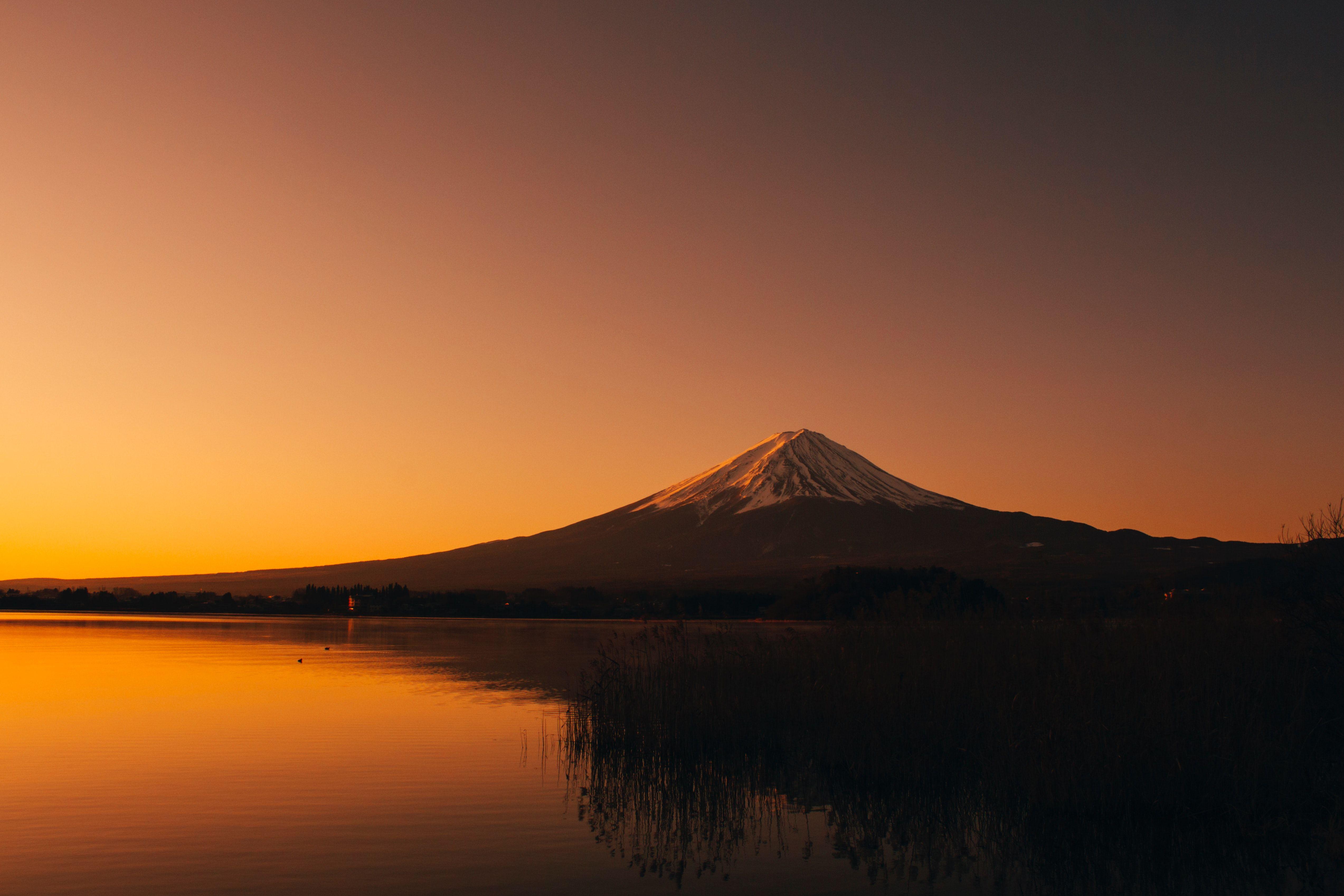 Mt Fuji 4k Wallpaper Sunset Images Sunset Wallpaper Fuji