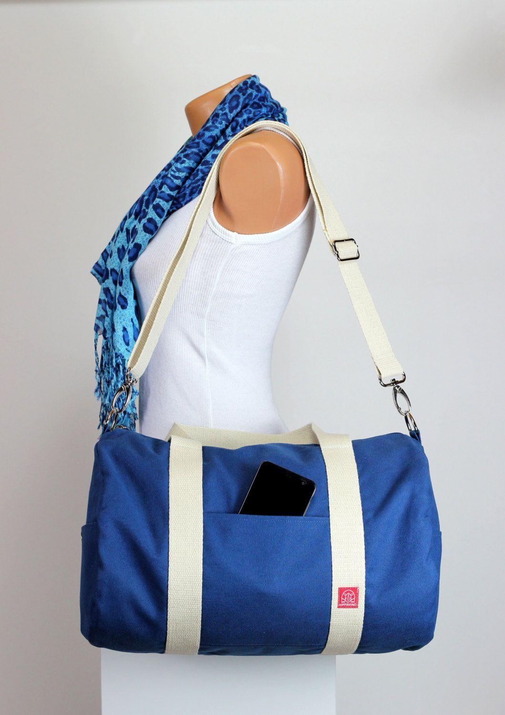 Minimalist Bag Yoga Large Bags Blue Duffel Gym