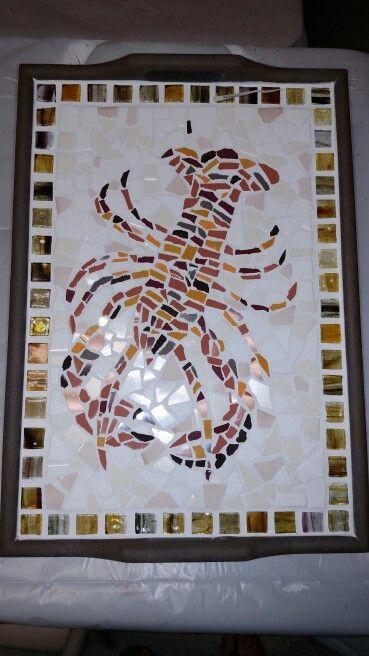 Mosaic lobster tray