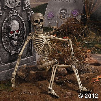 Posable Skeleton #OrientalTrading #HalloweenWishList Halloween - halloween decoration themes